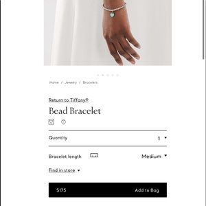 Tiffany bead bracelet